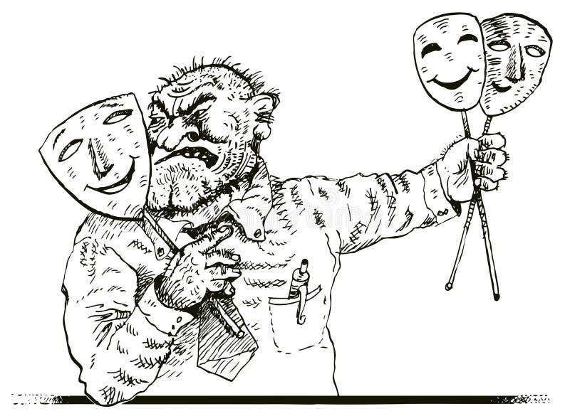 Schijnheiligheid (vector) royalty-vrije illustratie