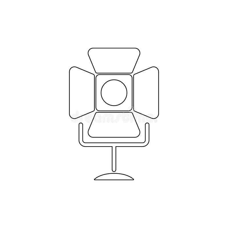 Schijnwerper eenvoudig pictogram Element van media voor mobiele concept en webtoepassingenillustratie Dun lijnpictogram voor webs royalty-vrije illustratie