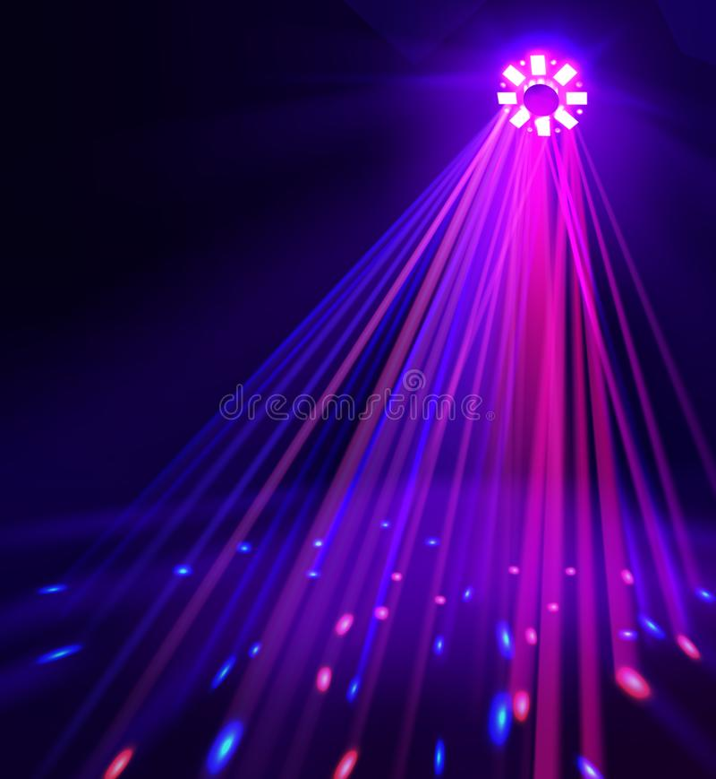 Schijnwerper met gekleurde lichten royalty-vrije illustratie