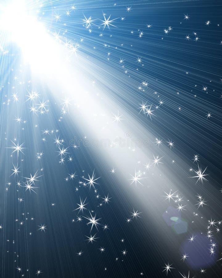 Schijnwerper met sterren stock illustratie