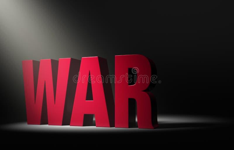 Schijnwerper op Oorlog stock illustratie