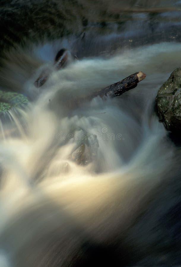 Schijnwerper op water stock foto's