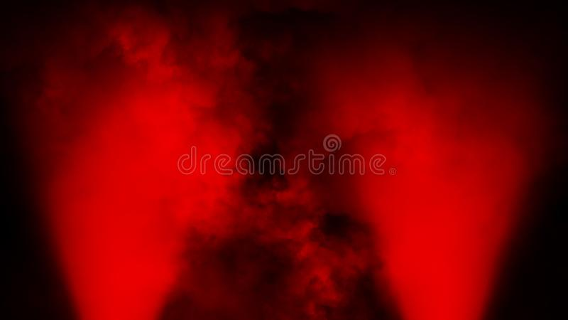 Schijnwerper rood stadium met rook op de vloer Ge?soleerde achtergrond Ontwerptextuur vector illustratie