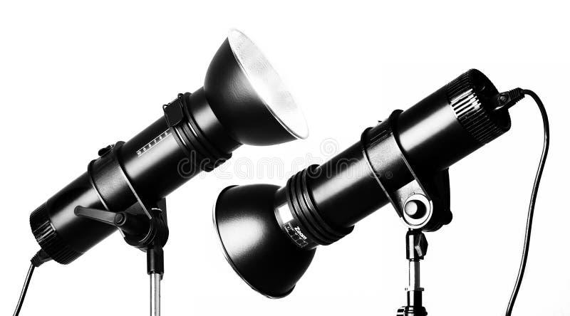 Schijnwerper van de de fotografie de professionele flits van de studio royalty-vrije stock foto