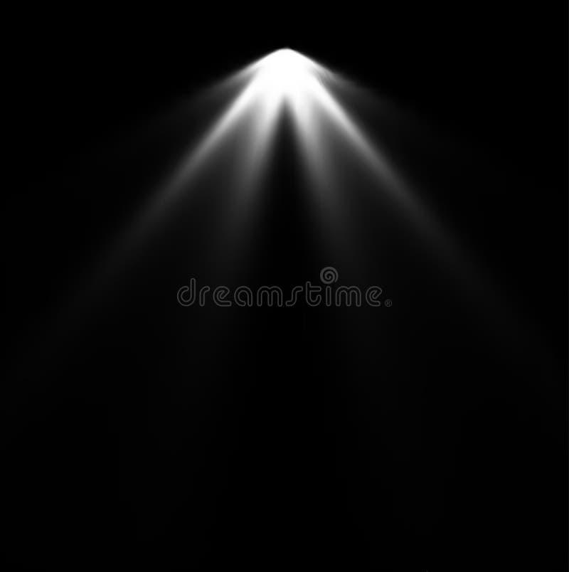 Schijnwerper zwart-witte verlichting. Vector vector illustratie