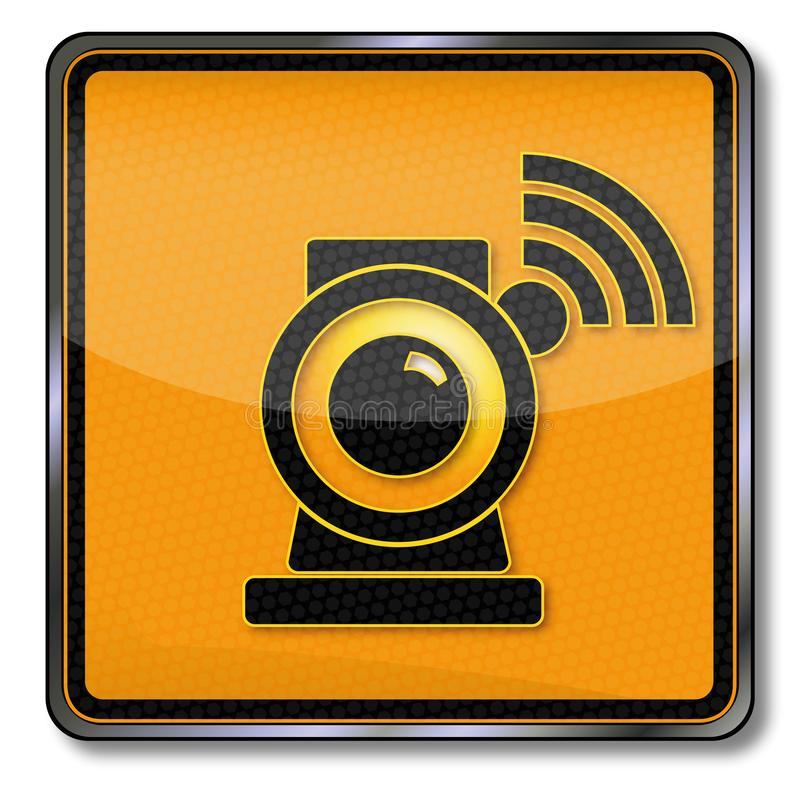 Webcam and internet. Webcam and we are watching you vector illustration