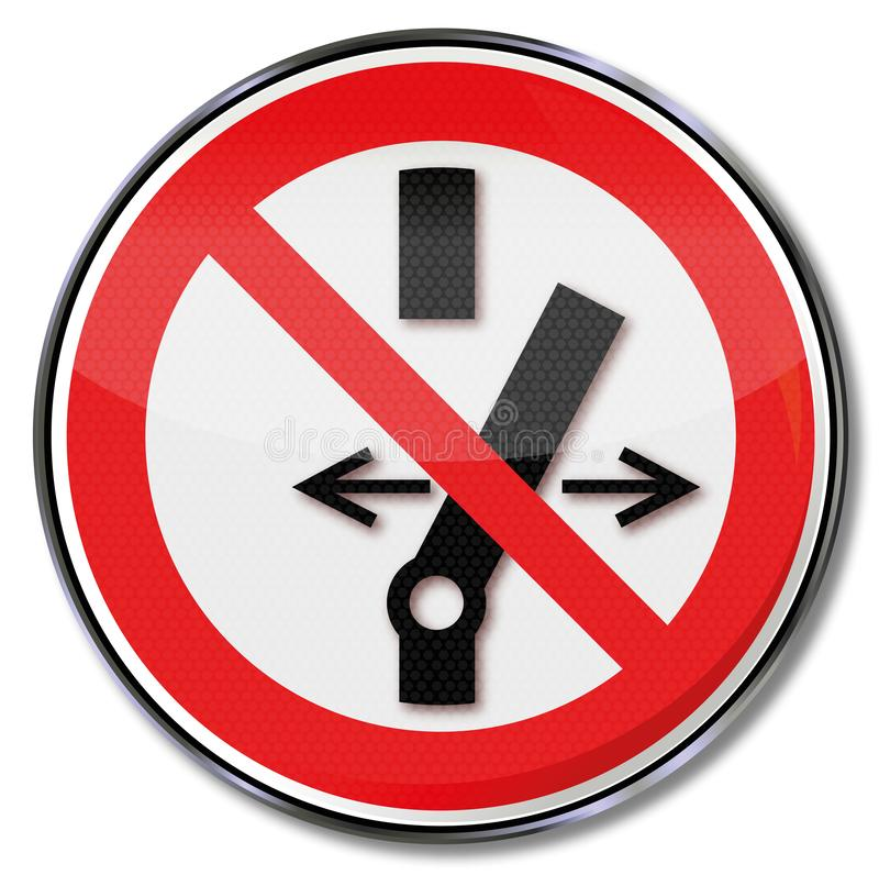 Prohibition sign no switching. This machine royalty free illustration
