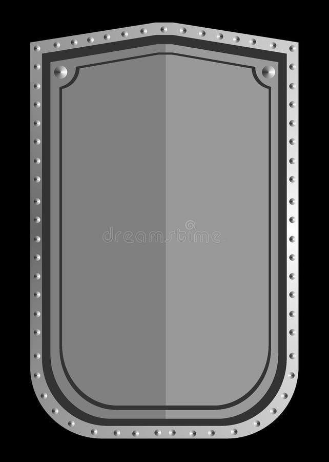 Schild des echten Silbers lizenzfreie abbildung