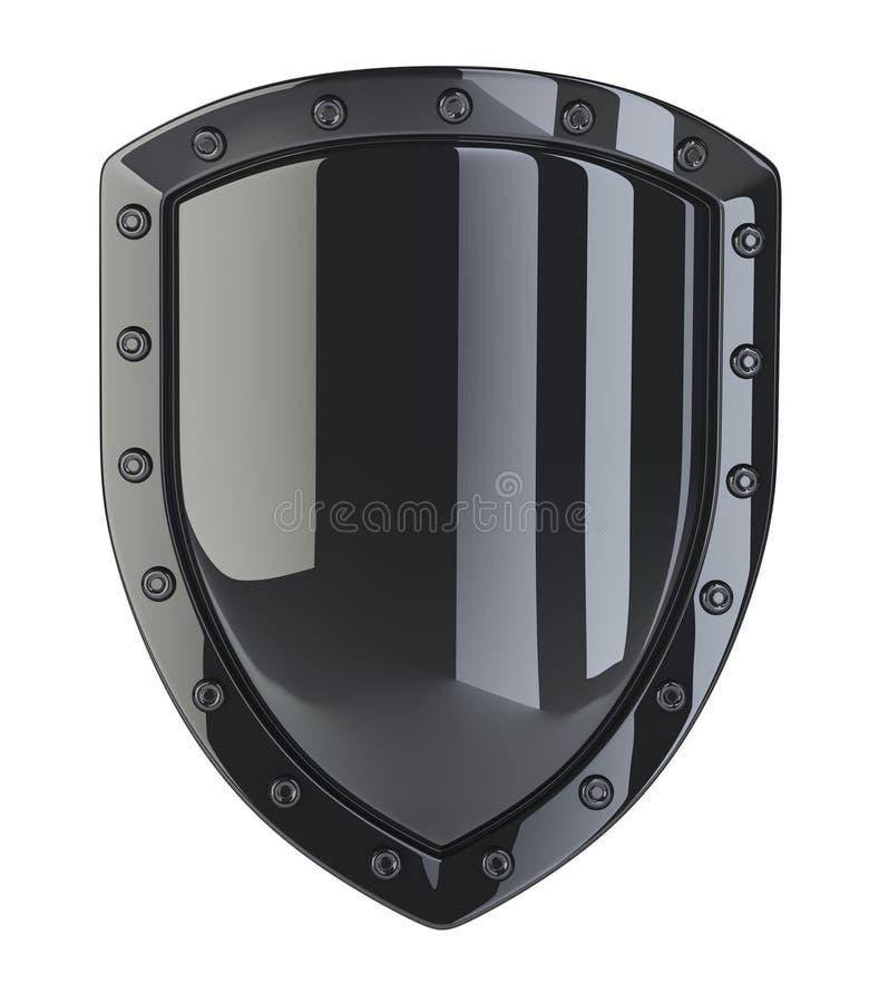 Schild des Schwarzen 3d lizenzfreie abbildung