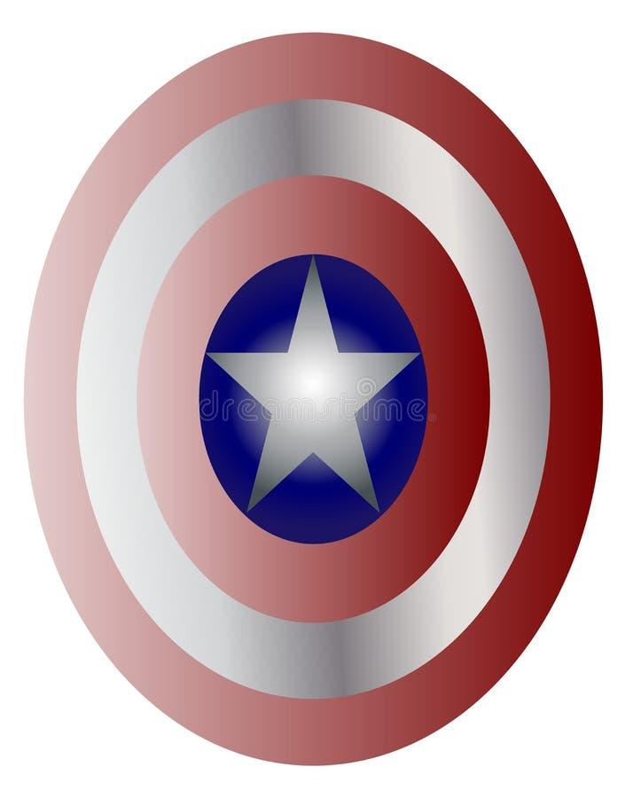 Schild Kapitäns Amerika stock abbildung