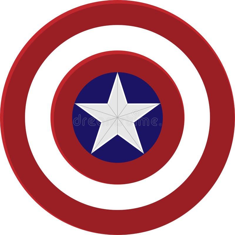 Schild Kapitäns Amerika lizenzfreie abbildung