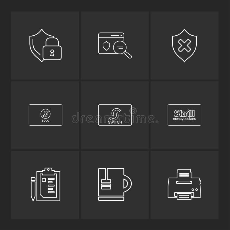 Schild, Karte, UNO geschützt, skrill, Drucker, Klemmbrett, ju lizenzfreie abbildung