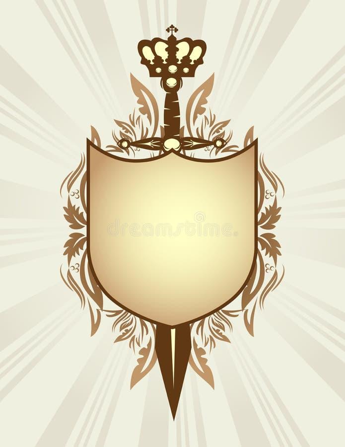 Schild, Klinge und Krone