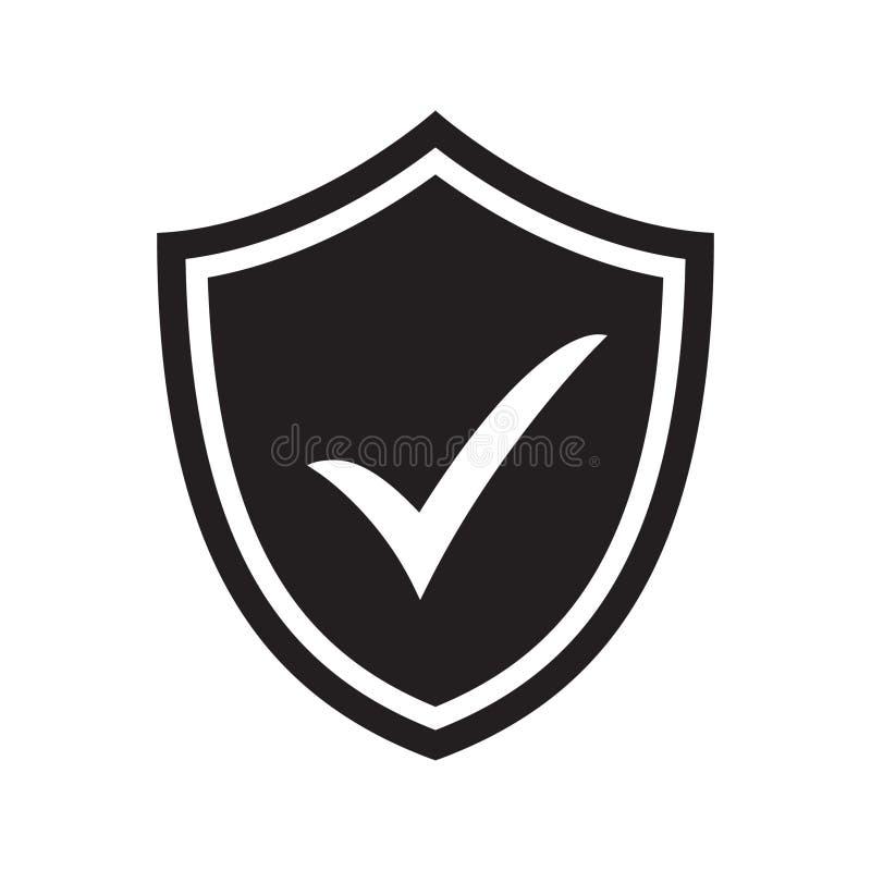 Schild met controletekensymbool voor download De veiligheidspictogram van het tikschild Het pictogram van toestellen royalty-vrije illustratie