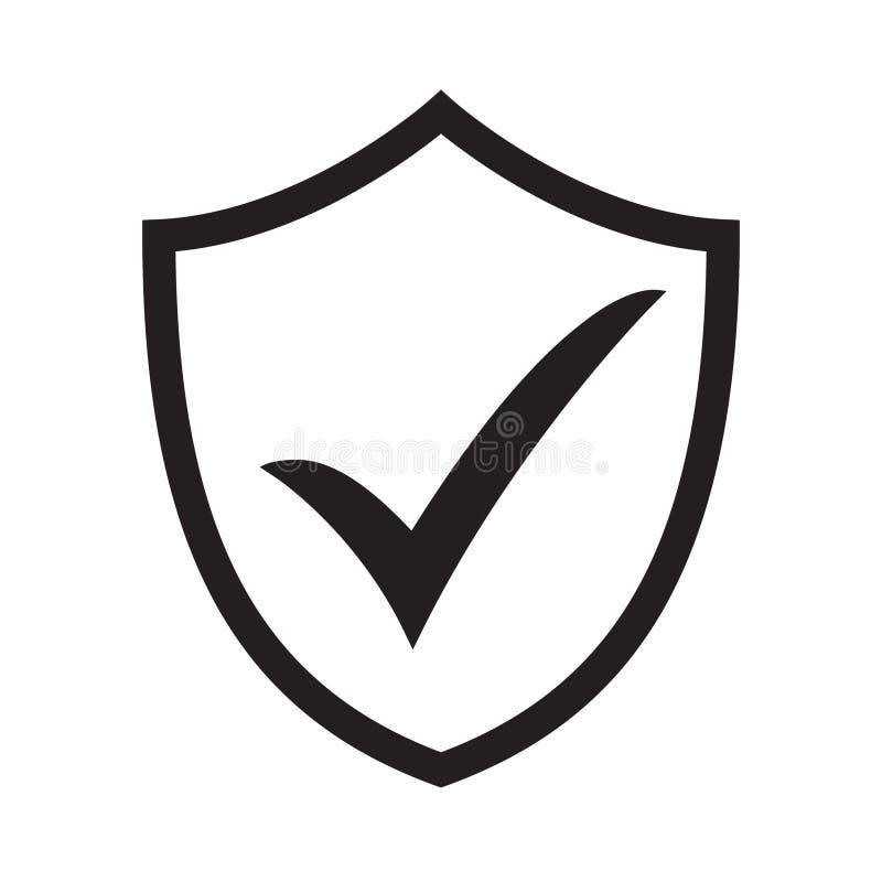 Schild met controletekensymbool voor download De veiligheidspictogram van het tikschild Het pictogram van toestellen stock illustratie