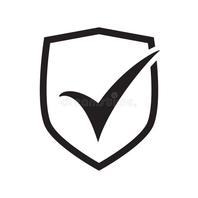 Schild met controletekensymbool voor download Het pictogram van toestellen royalty-vrije illustratie