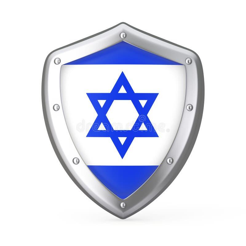 Schild met Vlag van Israël het 3d teruggeven royalty-vrije illustratie