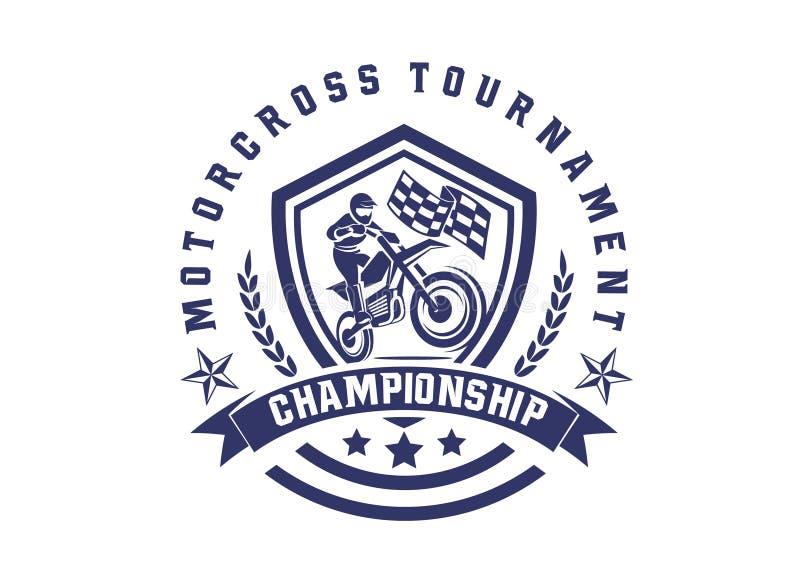 Schild motorcross wijnoogst vector illustratie
