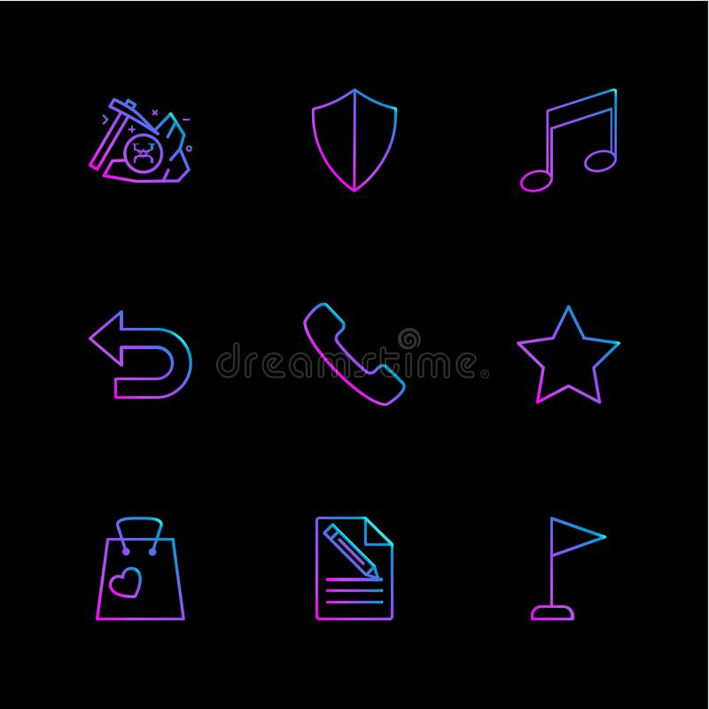 Schild, Musik, Rückseite, Telefon, Stern, Einkaufstasche, Datei, docu stock abbildung