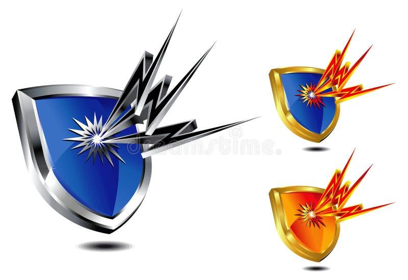 Schild-Schutz lizenzfreie abbildung