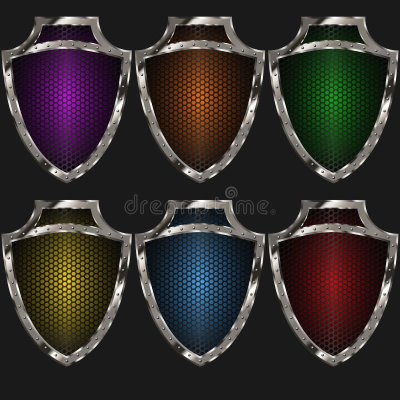 Schildbeschaffenheitfarbe stockbilder