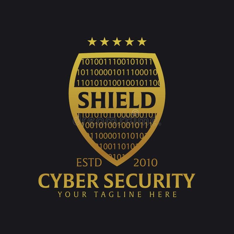 Schildembleem Beschermingsbedrijf veiligheid beschermer Vector illustratie royalty-vrije illustratie