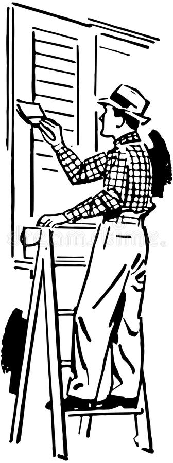 Schilder stock illustratie