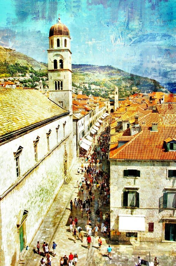 Schilder Dubrovnik stock fotografie