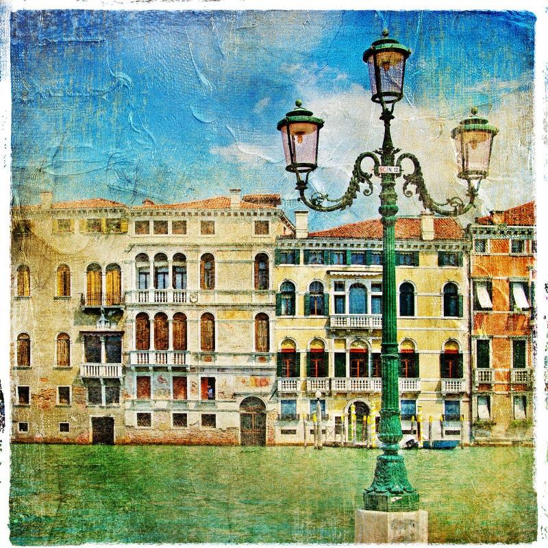 Schilder straten van Venetië stock afbeeldingen