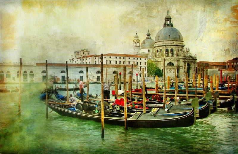 Schilder Venetië vector illustratie