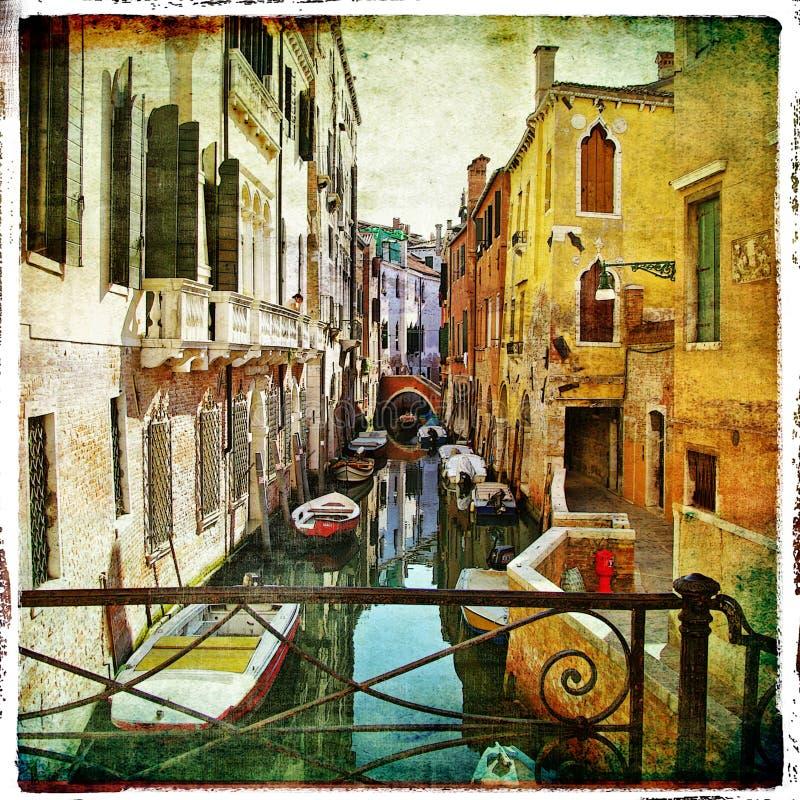 Schilder Venetië stock illustratie
