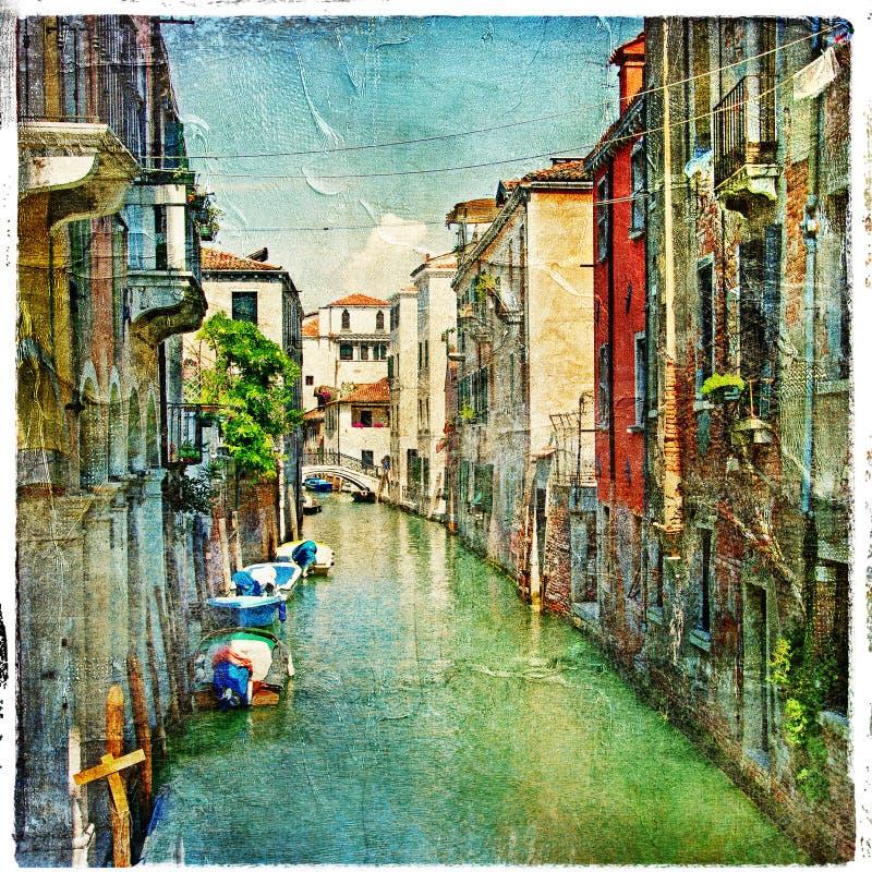 Schilder Venetië stock foto's