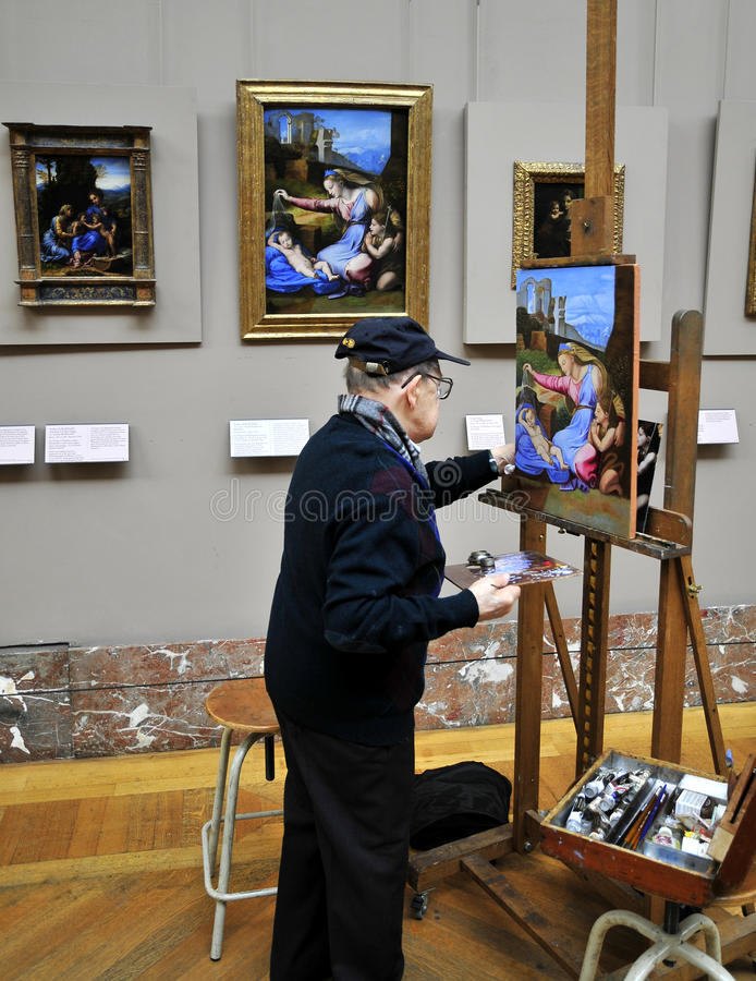 Schilder voor het schilderen royalty-vrije stock foto