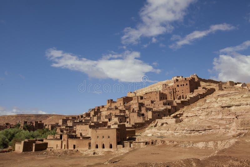 schilderachtig bergdorp Ait Ben Haddou dat onder bescherming van de Unesco-werelderfenis is royalty-vrije stock foto
