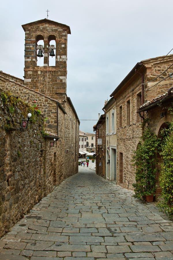 Schilderachtig hoekje van Toscanië stock afbeeldingen