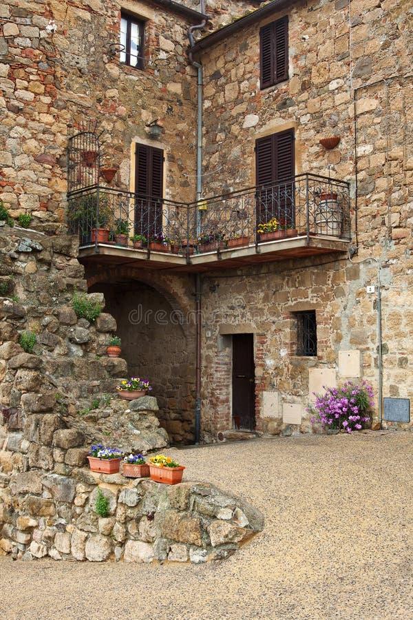 Schilderachtig hoekje van Toscanië stock afbeelding