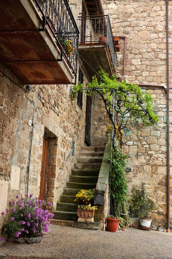 Schilderachtig hoekje van Toscanië royalty-vrije stock afbeelding