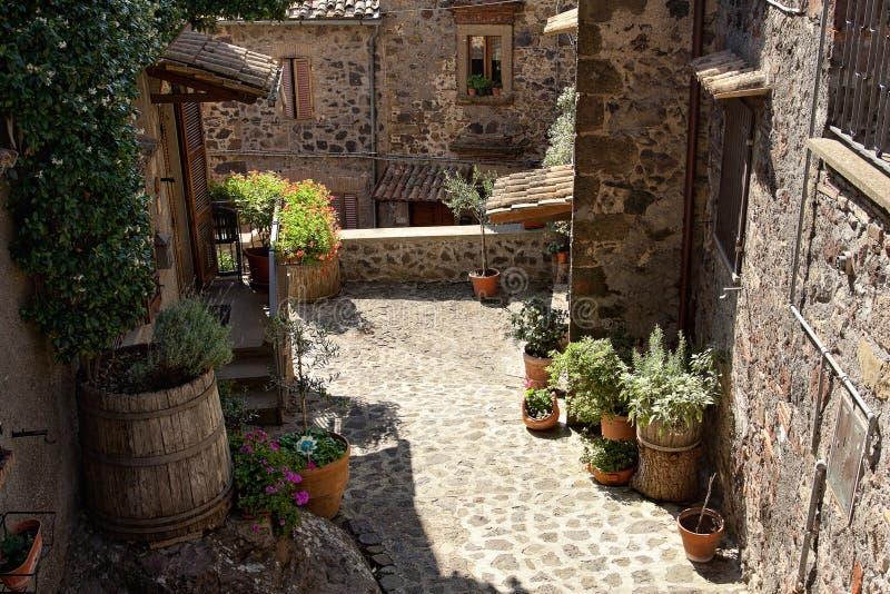 Schilderachtig hoekje van Toscanië royalty-vrije stock foto