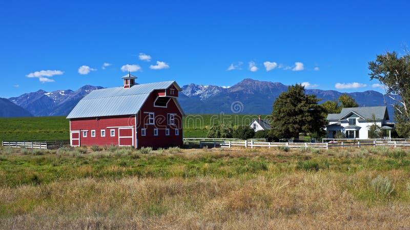 Schilderachtig landbouwbedrijf, Oregon royalty-vrije stock afbeeldingen