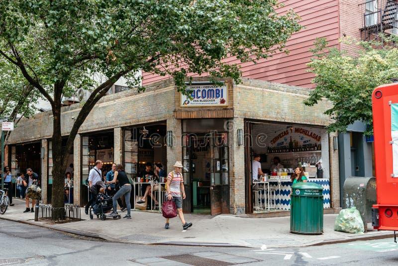 Schilderachtig Mexicaans restaurant in het Dorp van Greenwich in NYC stock foto