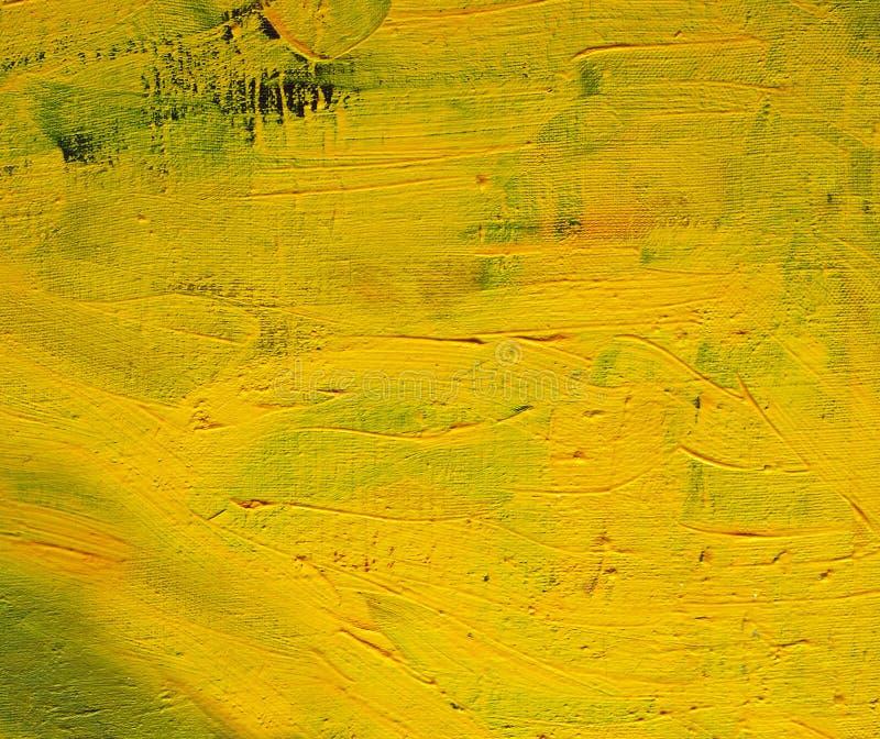 Schilderachtige gele achtergrond abstracte achtergrond royalty-vrije stock foto