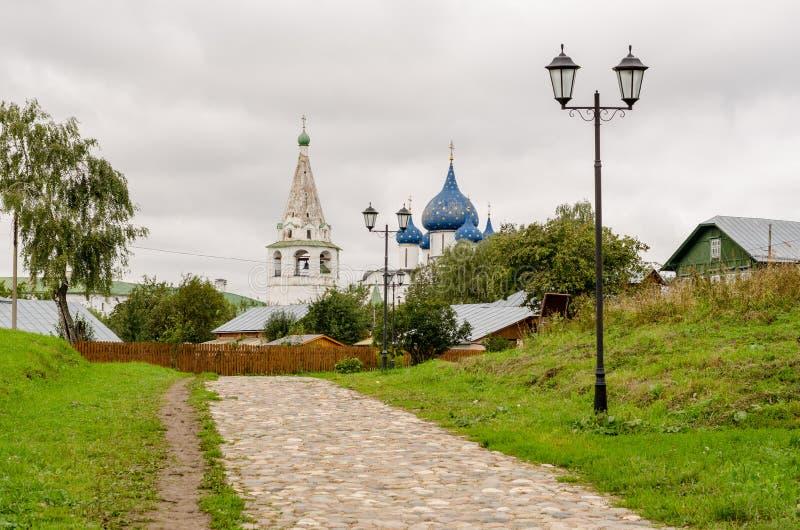 Schilderachtige mening van Suzdal het Kremlin, Rusland Gouden Ring van Rusland stock fotografie