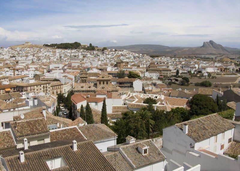 Schilderachtige Spaanse witte stad royalty-vrije stock foto's