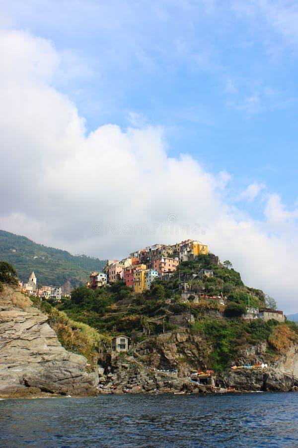 Schilderachtige stad in Cinque Terre National Parc royalty-vrije stock afbeelding