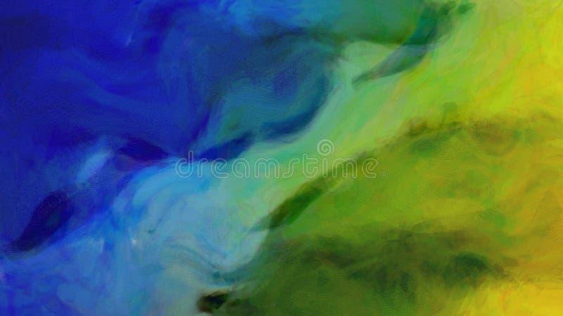 Schilderende Blauwe het ontwerpachtergrond Aard van de Achtergrond Mooie elegante Illustratie grafische kunst royalty-vrije illustratie