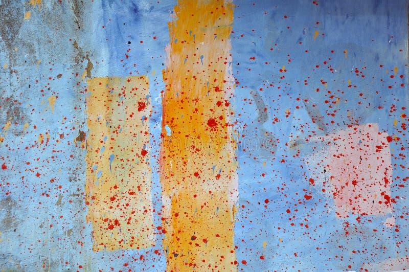 Schilderende Muur stock fotografie