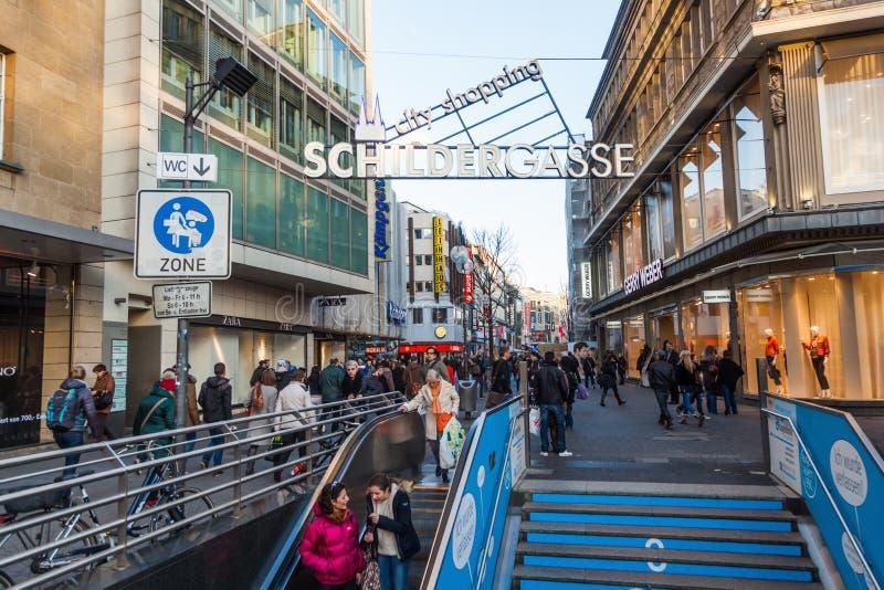 Schildergasse In Cologne Germany Editorial Image - Image Of Schildergasse Zone 36839230