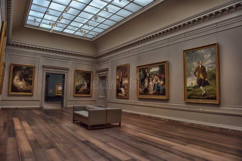 Schilderijen in het National Gallery van Art. stock afbeelding