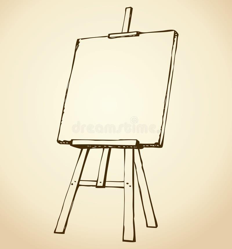 schildersezel EPS 10 stock illustratie