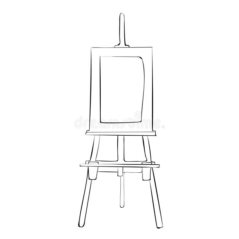 Schildersezelpictogram Geschetst op witte achtergrond vector illustratie